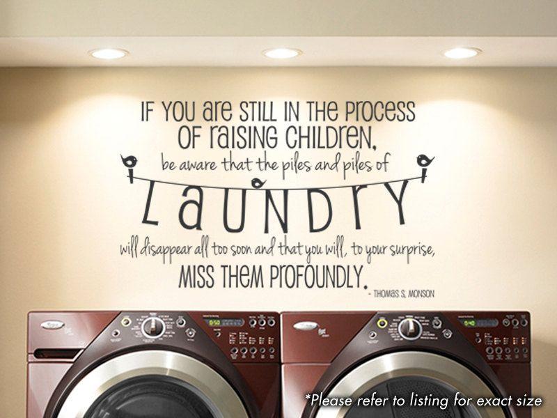 Laundry Room Raising Children Wall Art Vinyl By Gsgvinyldesigns