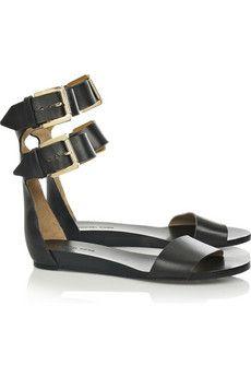 63556cfe5e5 Michael Kors Vachetta flat leather sandals