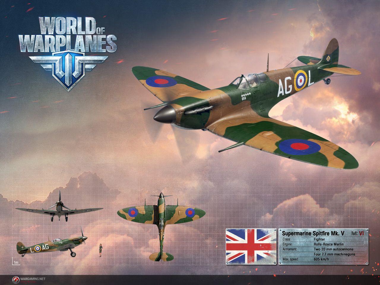 Supermarine Spitfire V World Of Warplanes Warplane Supermarine Spitfire Fighter Aircraft