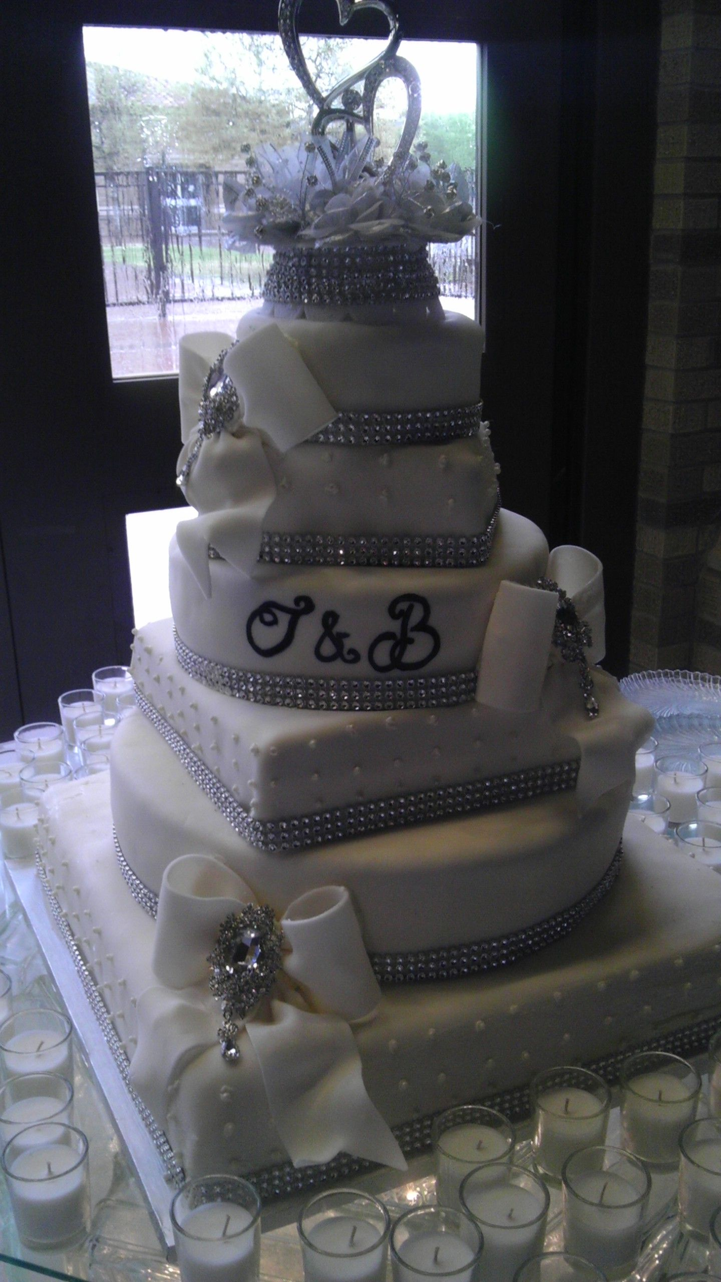 Did this cake for my cousins 25th wedding anniversary