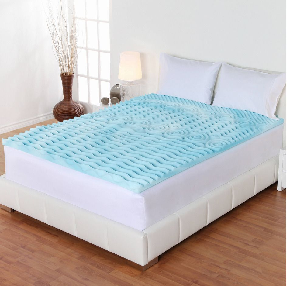 hypoallergenic twin gel mattress topper memory foam 2inch orthopedic