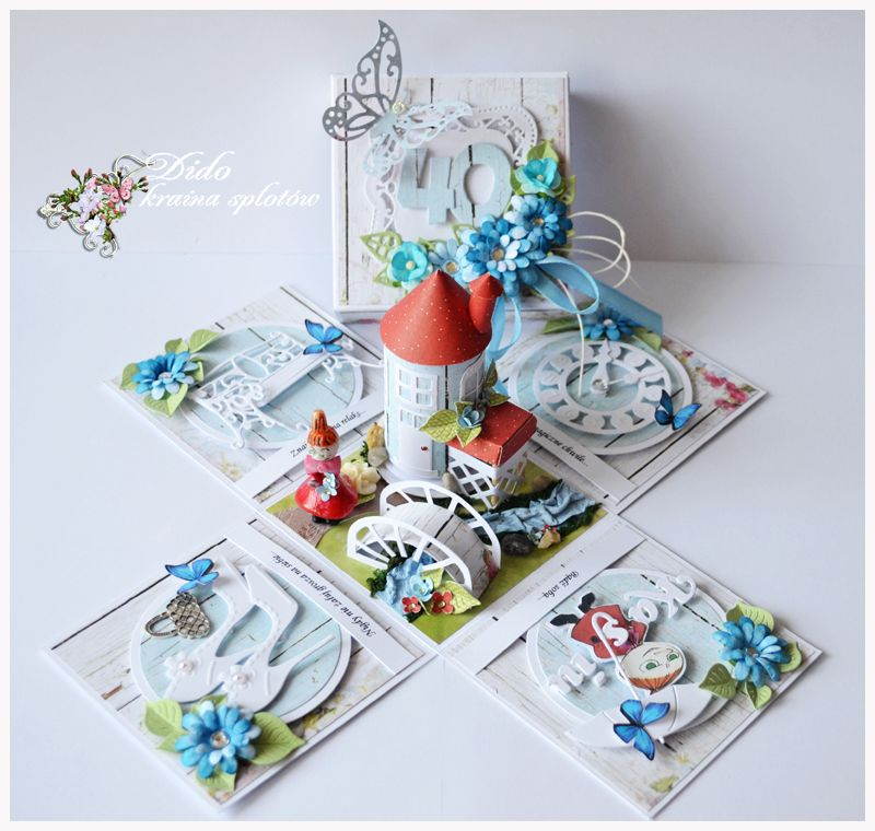 Dsc 00493 exploding box with 3d house and mini garden for Christmas card 3d designs