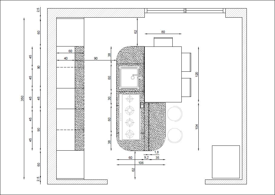 planimetria cucina isola - Cerca con Google  Cucina  Pinterest ...