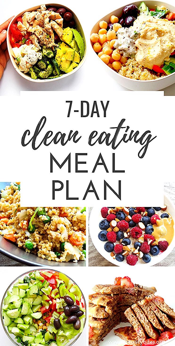 Photo of 7-Day Clean Eating Meal Plan, feat. clean eating grocery list. Start the 7-Day c…