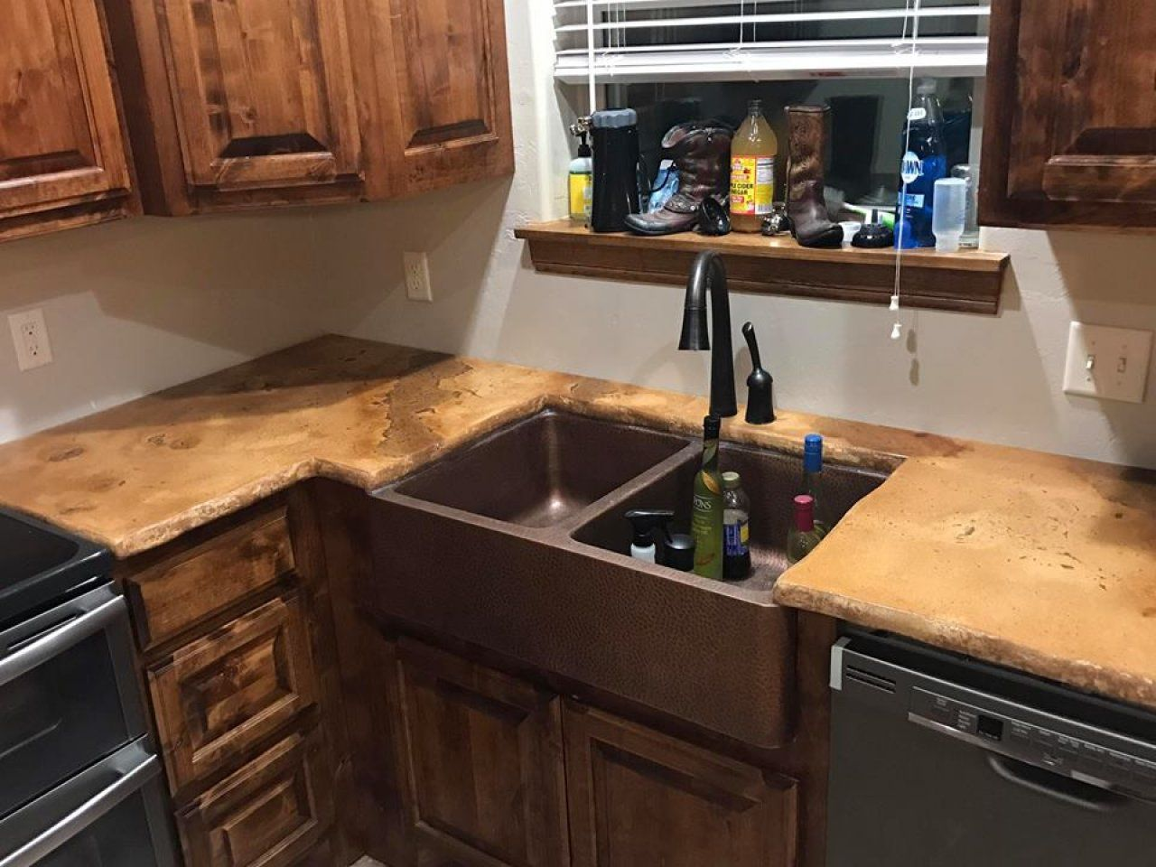 Stained Concrete Kitchen Counter