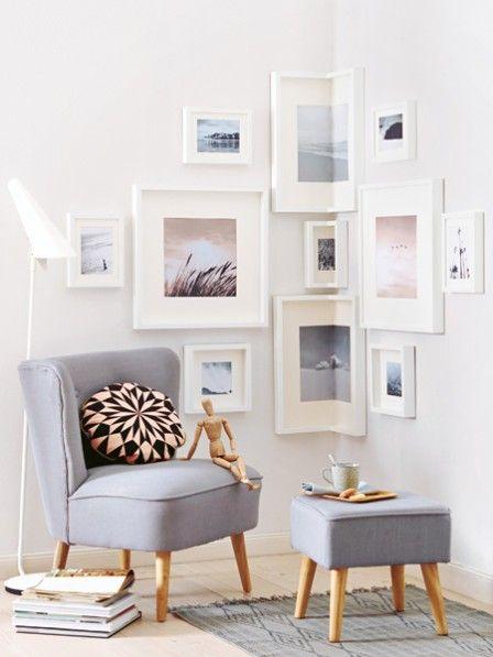 Fotowand selber machen - kreative Ideen Wohnzimmer Pinterest