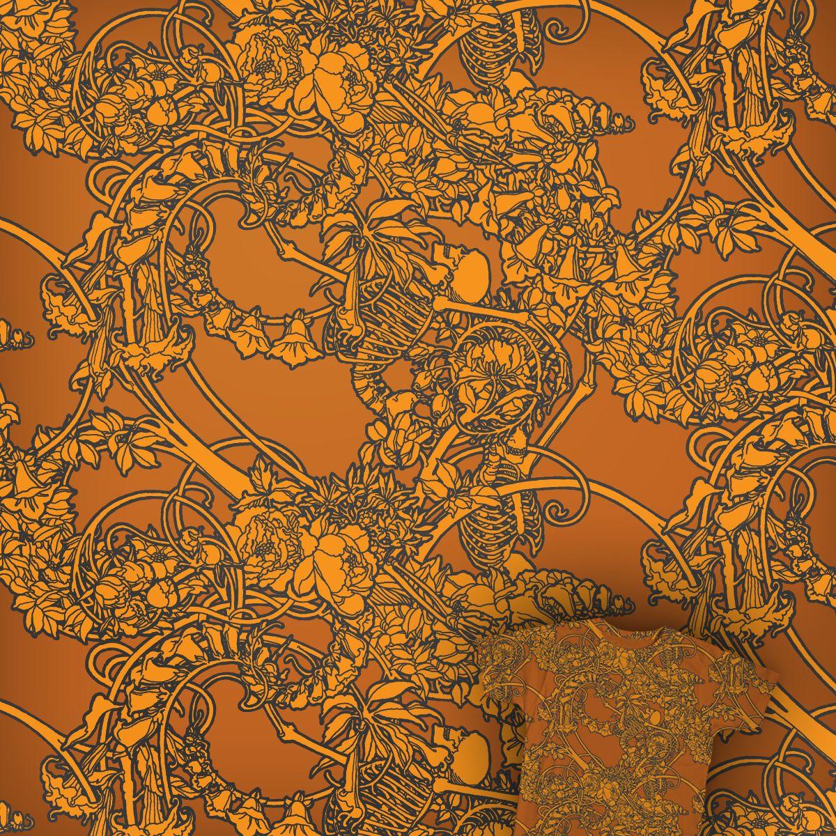 Bones & flowers on Threadless.com. Beautiful pattern from my friend Ilya Novikov.
