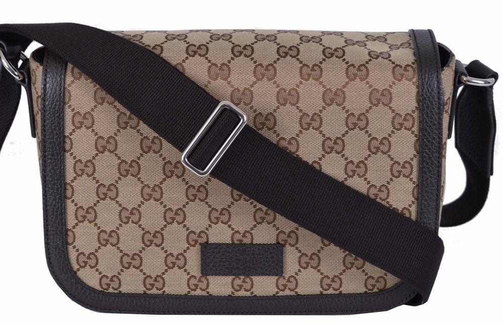 c5f0260157f New Gucci 449172 GG Guccissima Canvas Medium Crossbody Messenger Bag Purse   Gucci  MessengerShoulderBag