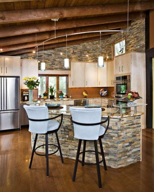 Arredare una cucina all\'americana - Cucina dal sapore rustico | Cucina