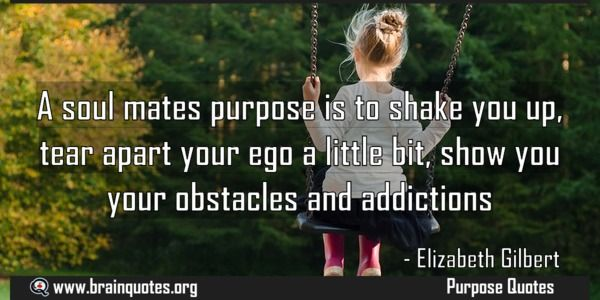 A soul mates purpose is to shake you up tear apart your ...