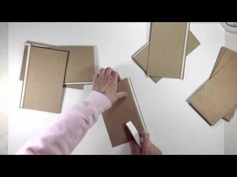 Vertical Paper Bag Mini Album Series Part 1a - Building Pages