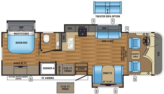 Albany Rv Jayco Precept Class A 31ul Rv Floor Plans Travel