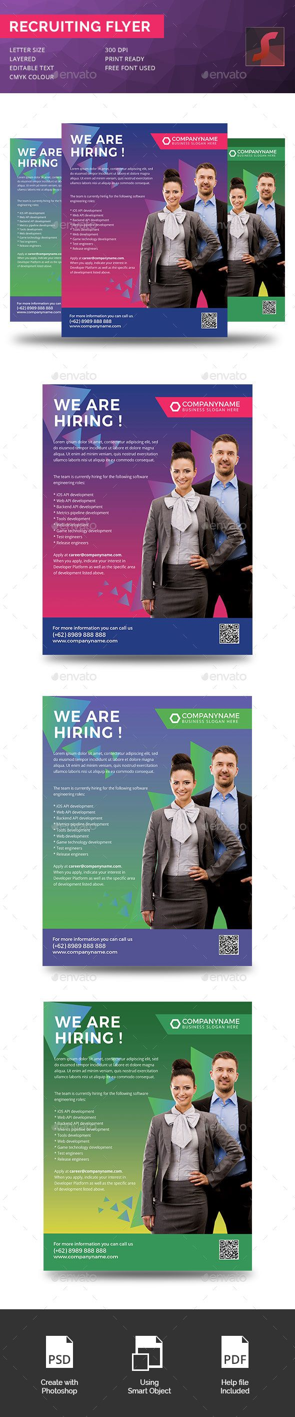 Recruiting Company Flyer | Download here : https://graphicriver.net/item/recruiting-company-flyer/16086964?ref=sinzo