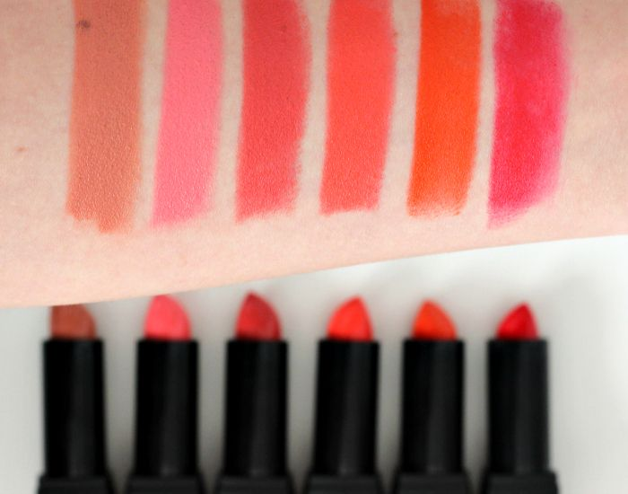 Sleek VIP lipsticks swatch