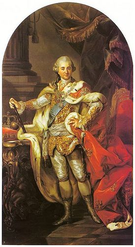 Bacciarelli, Marcello (1731-1818) - 1764 Stanislaw August in Coronation Robes (The Royal Castle, Warsaw, Poland)