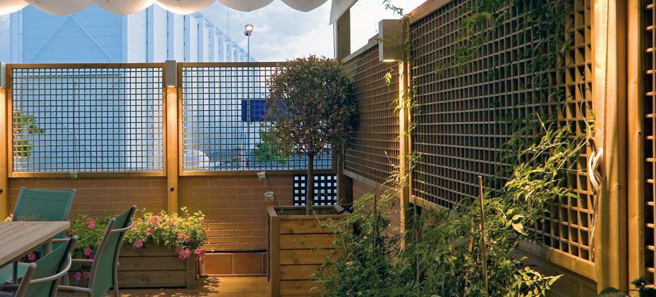 Celos as de exterior para terrazas y jardines en www for Decoracion vallas jardin