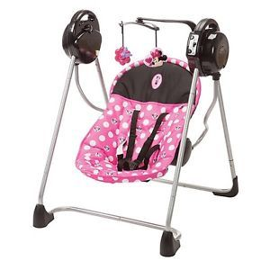 7 Pc Set Minnie Mouse Baby Nursery High Chair Swing Car Seat Bouncer Pack  Play