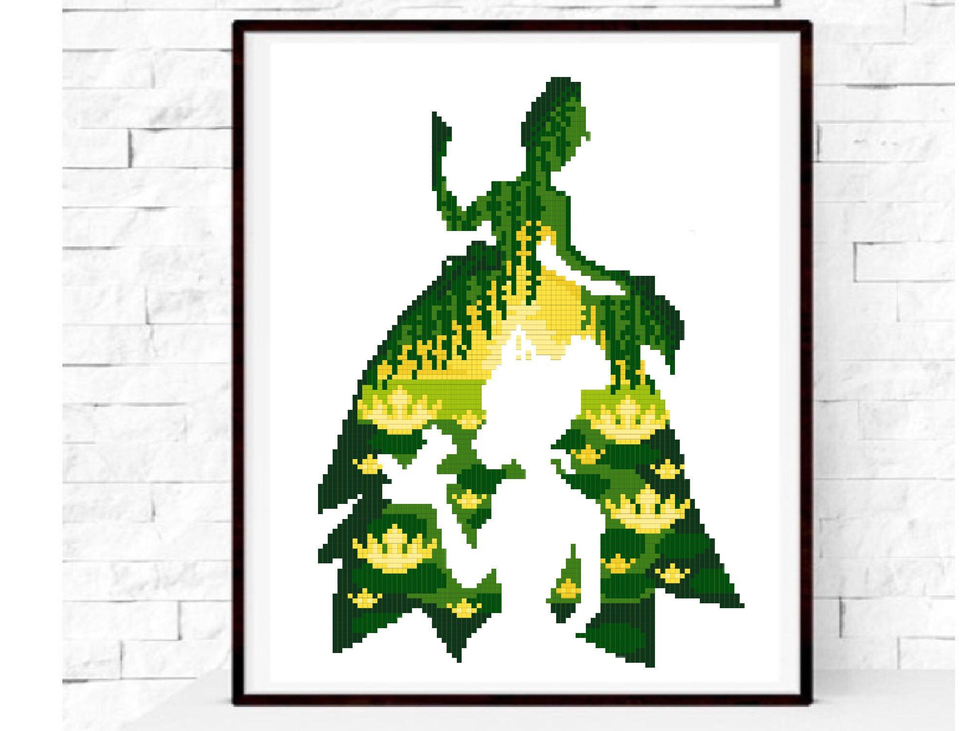 Disney Tiana Princess And Frog Modern Cross Stitch Pattern Easy