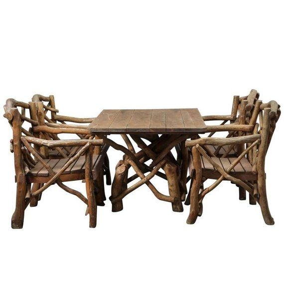 Set of Rustic 1930s Twig Furniture