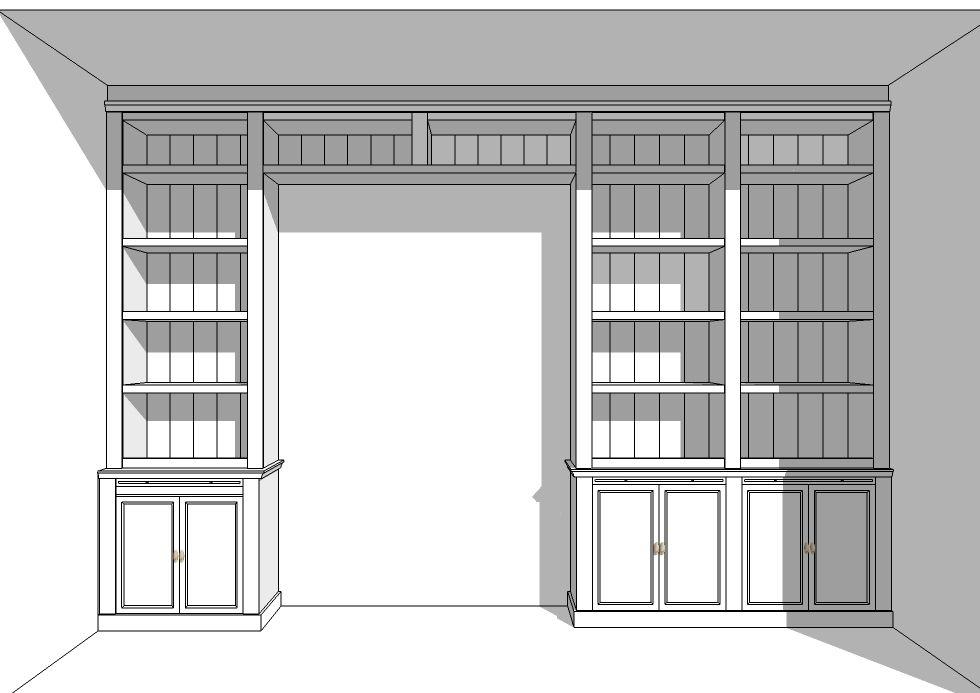 Maatwerk boekenkast rondom kamer en suite deuren for Kamer interieur