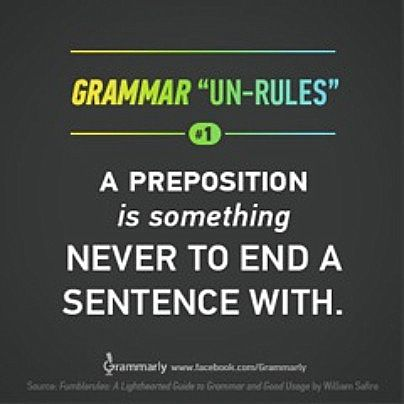 Grammar Un Rules Ironically Demonstrate The Grammar Error Being Made No 1 Prepositions Grammar Practice Grammar Meaningful Sentences