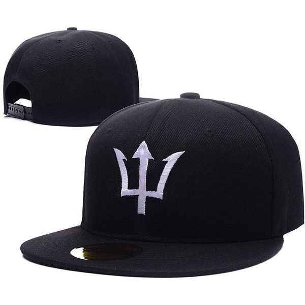 Haihong Percy Jackson Symbol Trident Logo Adjustable Snapback Embroidery Hats Caps Percy Jackson Trident Logo Percy Jackson Trident