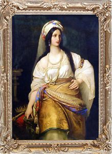 Queen Esther Framed On Canvas Dollhouse Picture Made In Usa Fast Delivery Queen Esther Esther Biblical Art