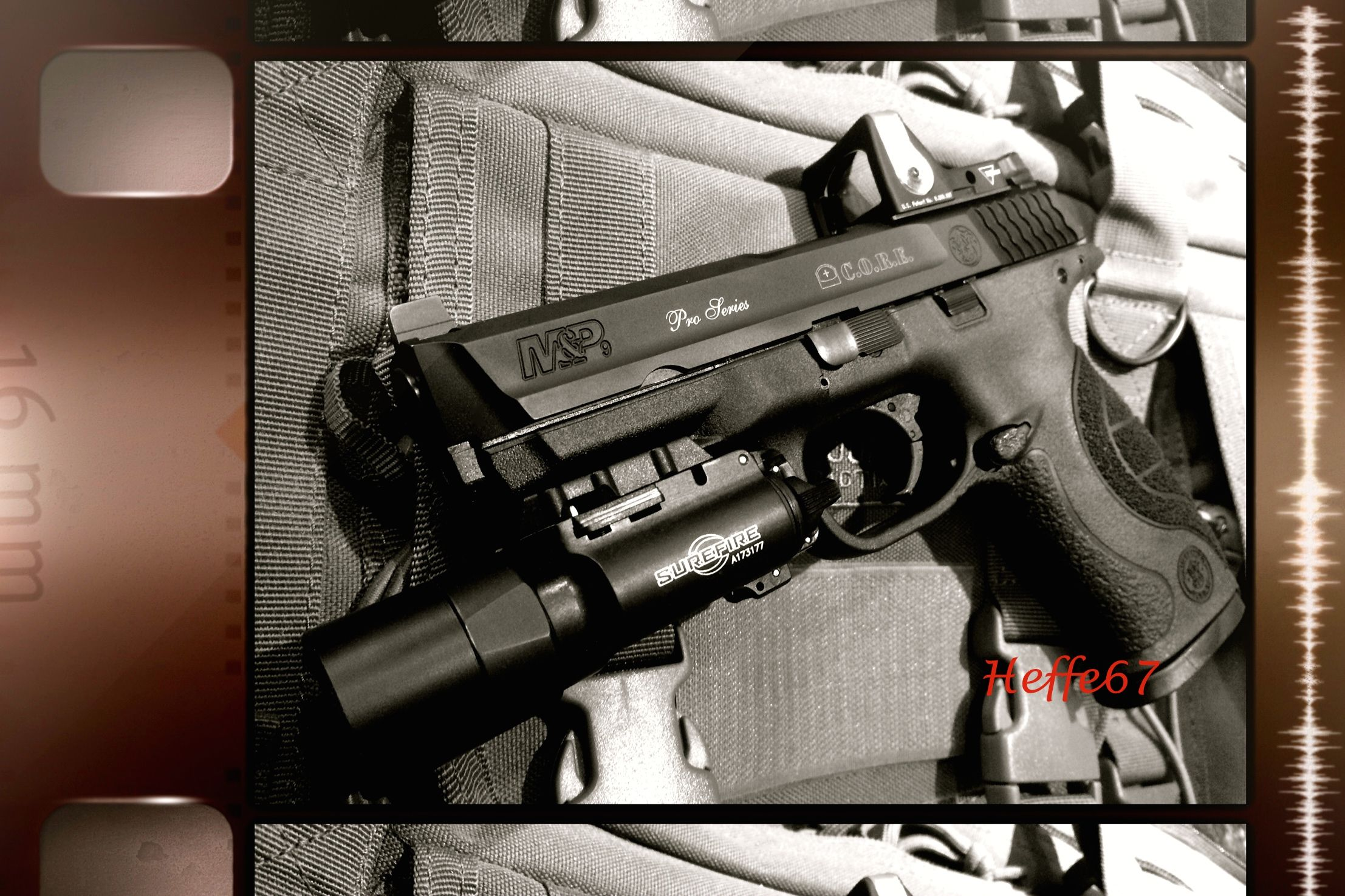 My Smith & Wesson M&P Pro C.O.R.E. with Surefire X300 and Trijicon RMR