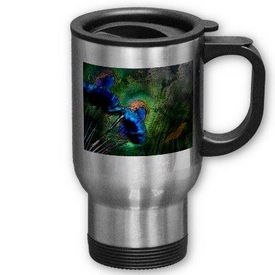Peacock Dreams - Abstract Mug