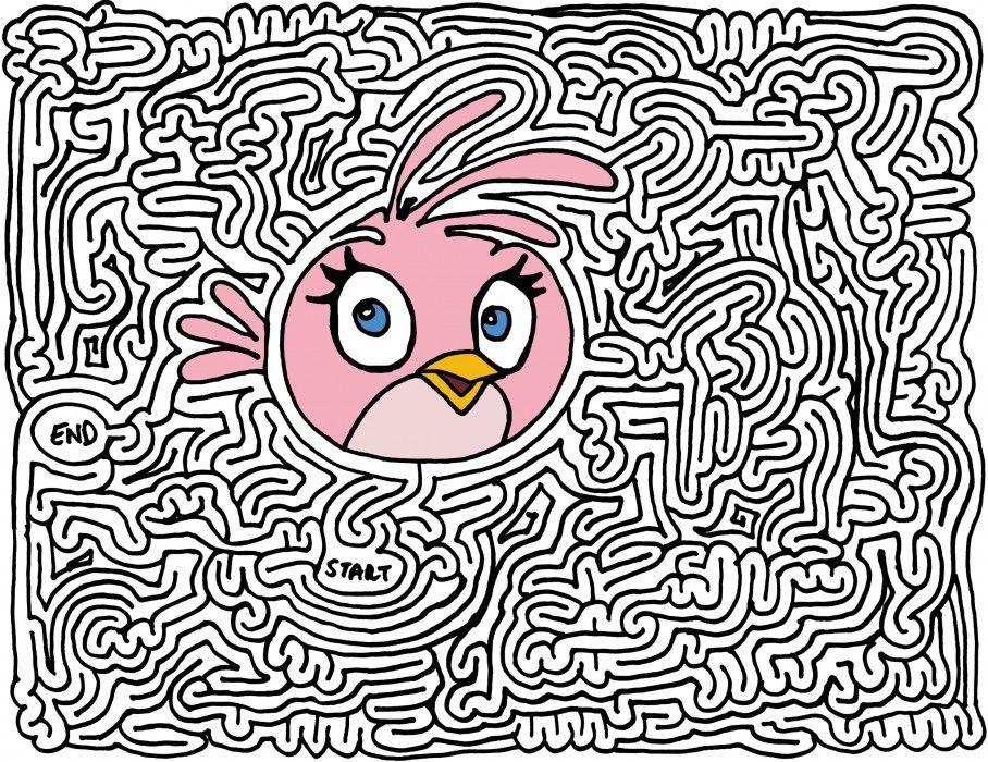 Pink Angry Bird Maze