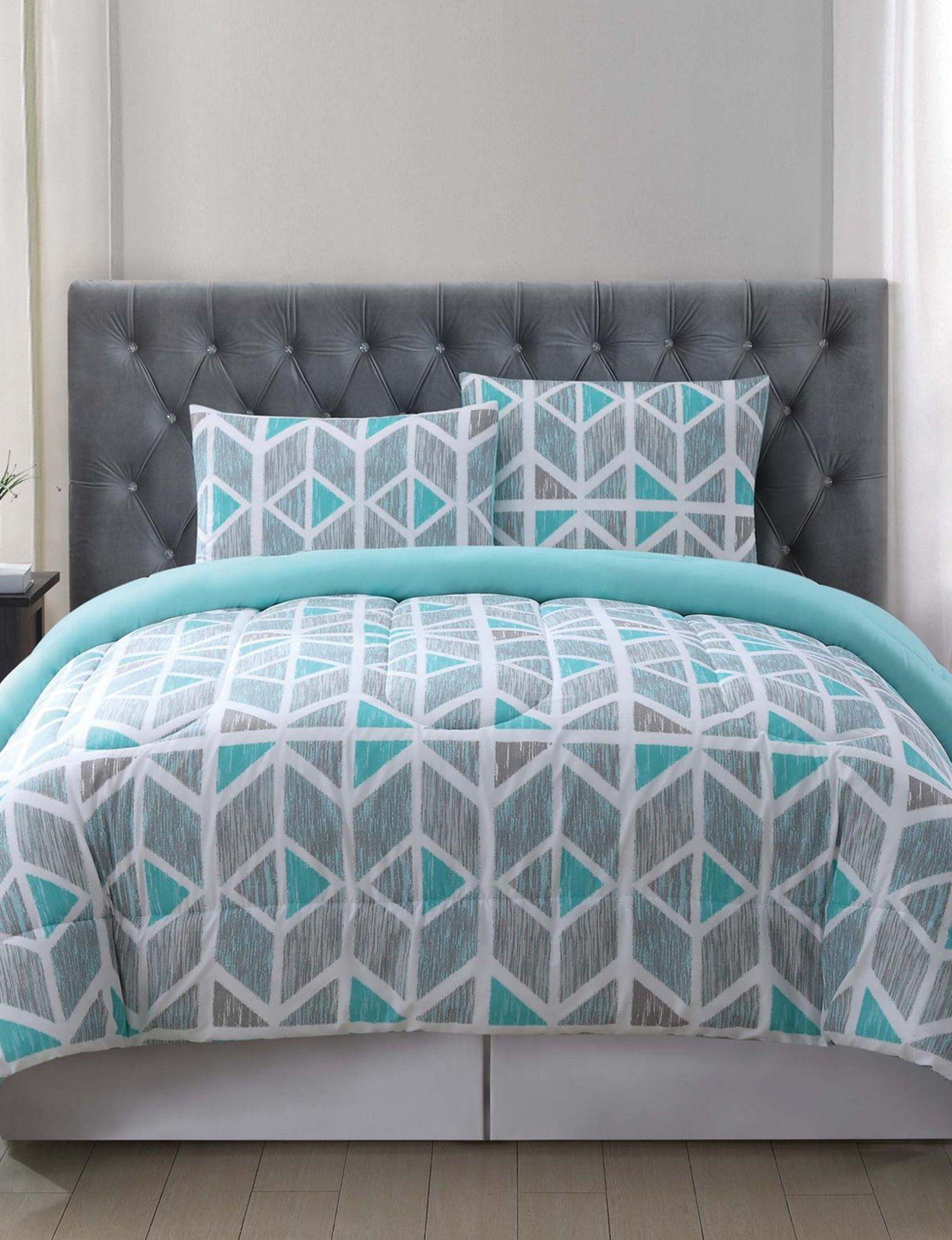 Truly Soft Grey Teal Comforters u Comforter Sets College
