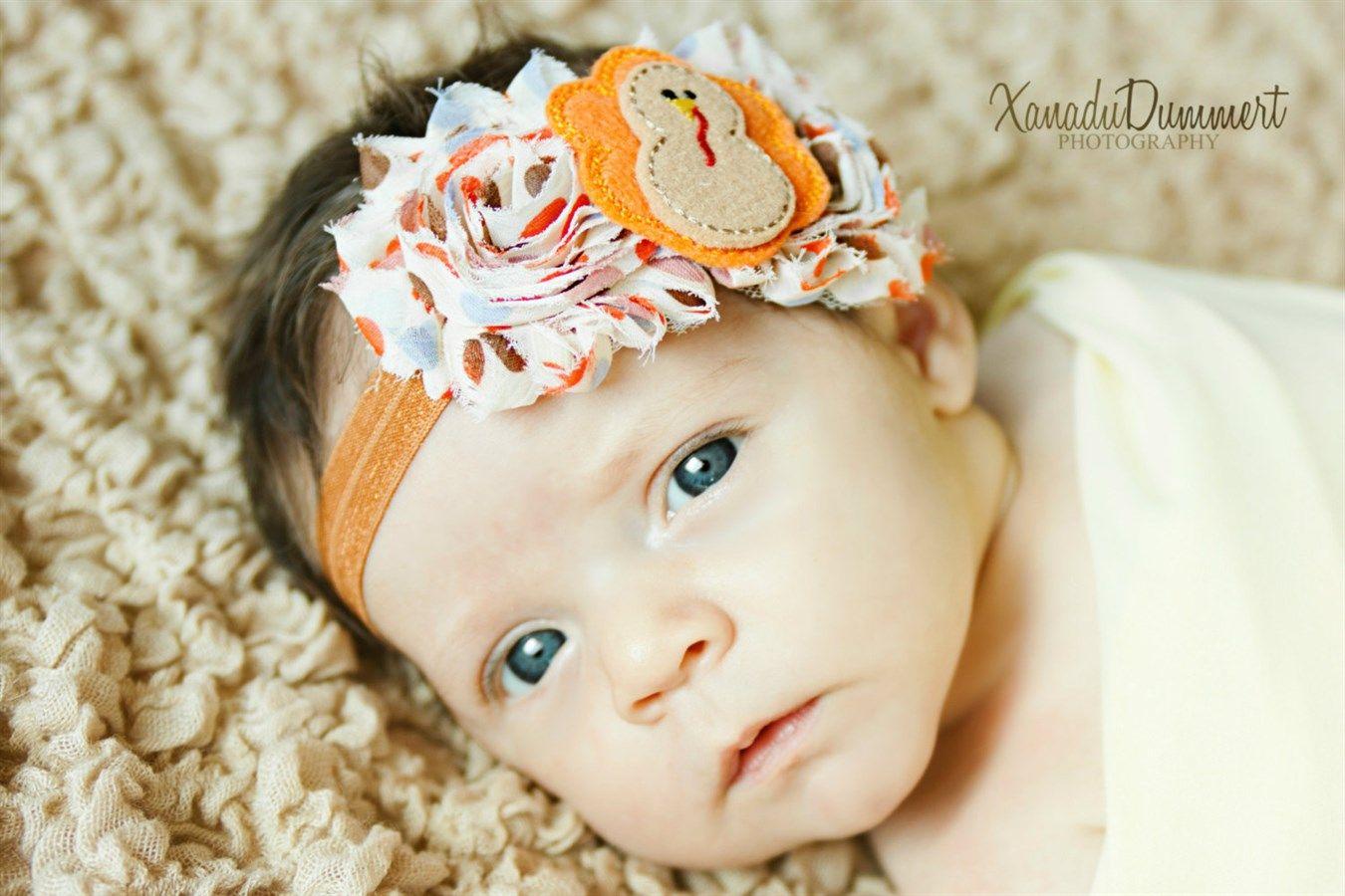 Little baby headbands thanksgiving headbands toddler headbands felt headbands newborn headbands thanksgiving hair bows baby headbands