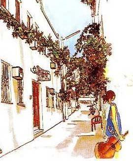 Backstreets of Gumusluk Turkey