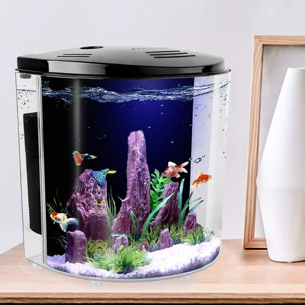 Small Salt Water Aquarium The 1 4 Gallon Office Desktop Square Small Fish Tank Can Raise Betta Guppies Ang Betta Aquarium Small Fish Tanks Aquarium Fish Tank