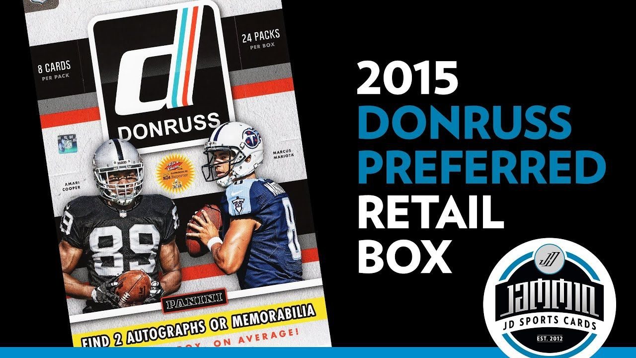 2015 Donruss Preferred Football Retail Box 2 Hits