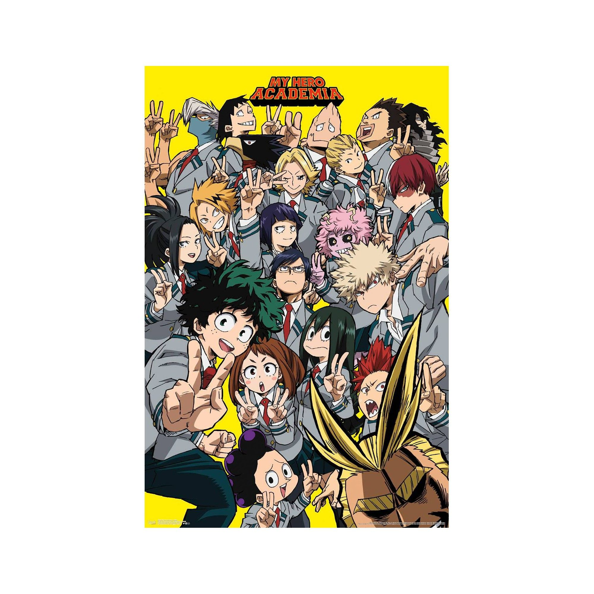 34 x23 my hero academia selfie unframed wall poster print on poster my wall id=94090