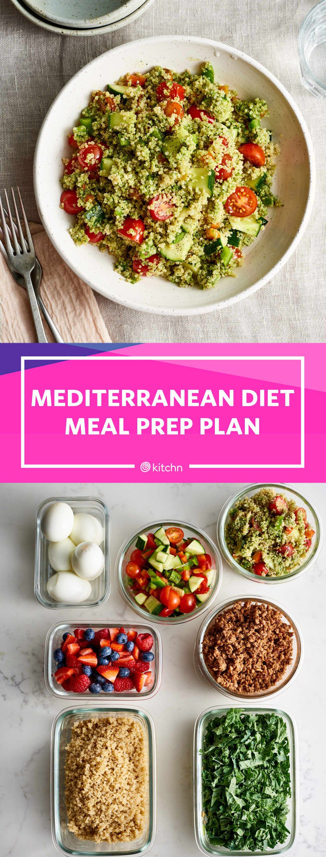 Meal Prep Plan: How I Prep a Week of Easy Mediterranean Diet Meals in Just 2 Hours #weeklymealprep