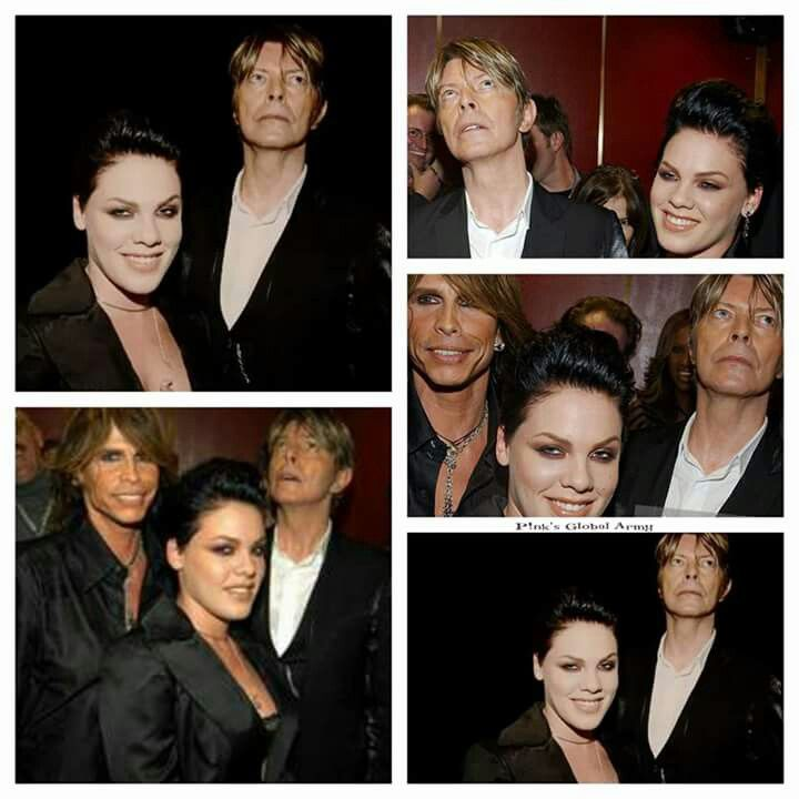 Pink with steven Tyler & David Bowie ♌