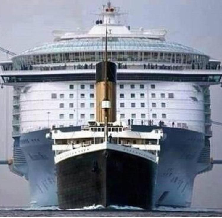 EDTSouthEast On Titanic Cruise Ships And Cruises - Biggest cruise ship ever compared to titanic