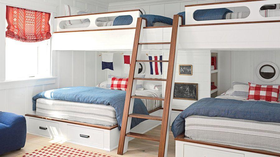 20 Fabulous Beach House Bunk Rooms Bunk Beds Built In Bunks