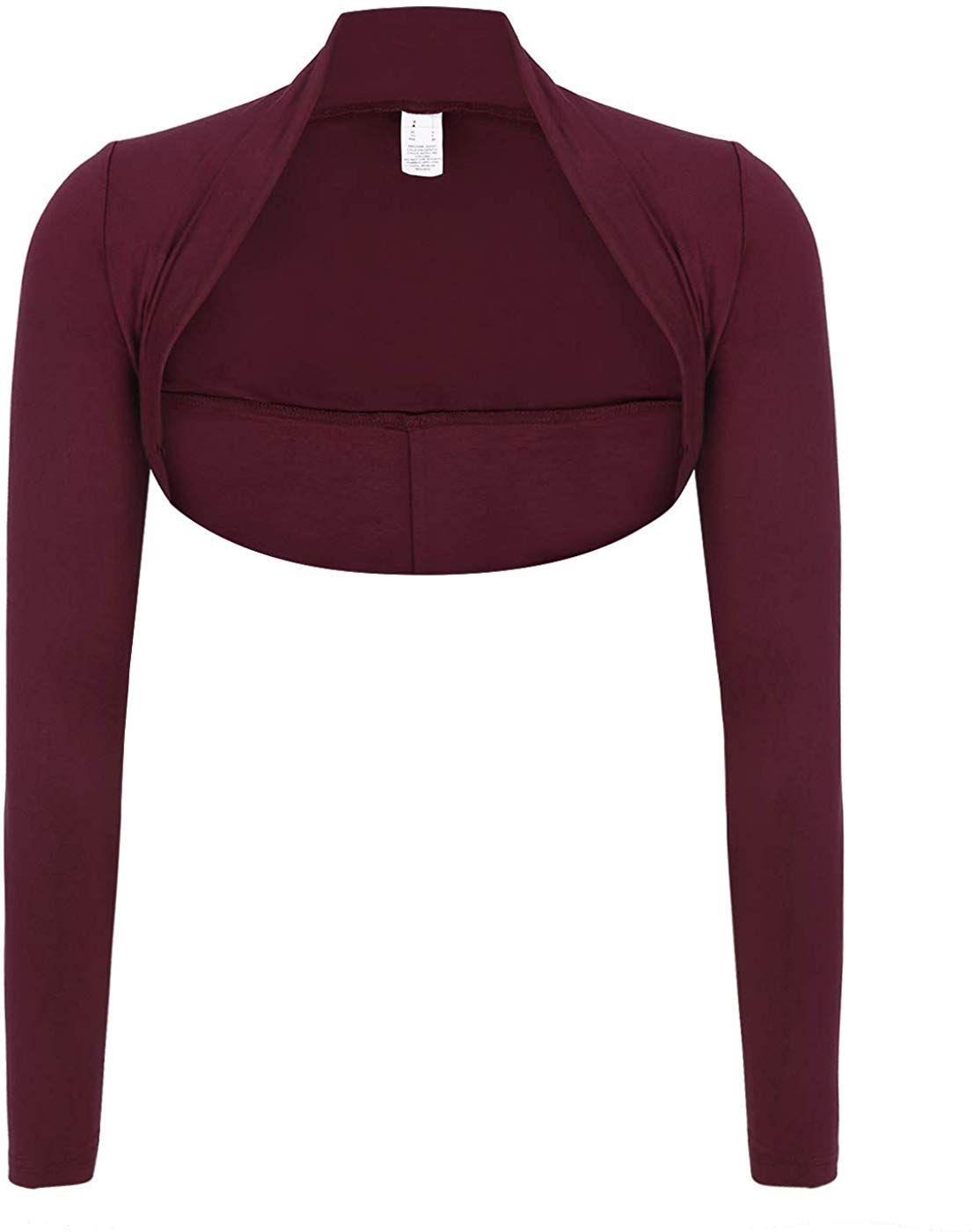 Womens Chiffon Long Sleeve Bolero Shrug Jacket Crop Top Cardigan Coat Sweater