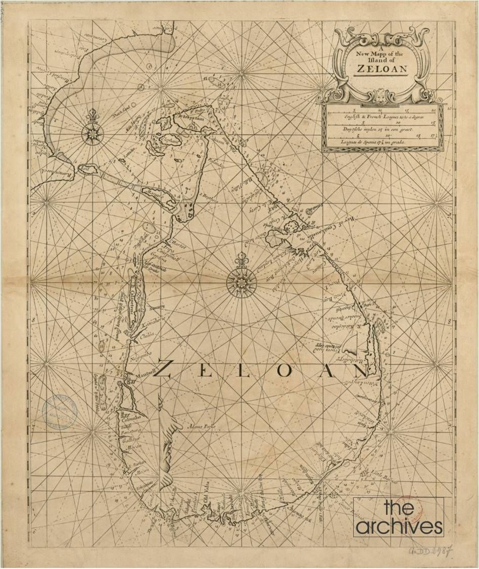 A map of Zeloan as Sri Lanka was called dating back to 1702 – 1707 by the famous Cartographer Samuel Thornton. Samuel Thornton (d.1715) was the son and heir of the English chart-maker, John Thornton, who was the pre-eminent English mapmaker of the later part of the seventeenth century and first decade of the eighteenth. After his death in 1708, Samuel Thornton continued to re-issue his father's charts, often with his imprint substituted. This could be from John Thornton's Atlas Maritimus.