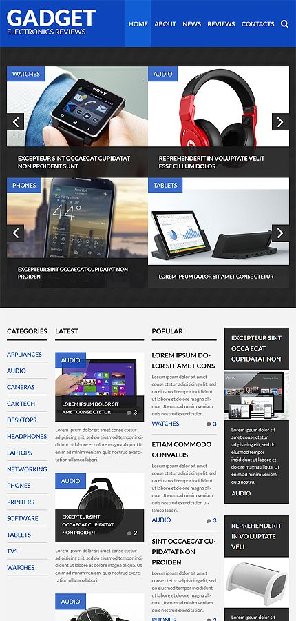Gadget Review Site #Wordpress #template #themes #business