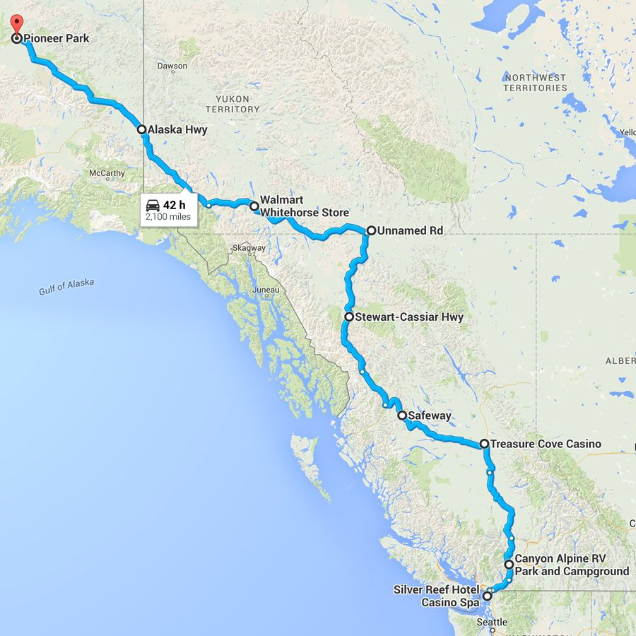 Ferndale Washington Map.8 Day Driving Itinerary Especially For Rvs From Ferndale