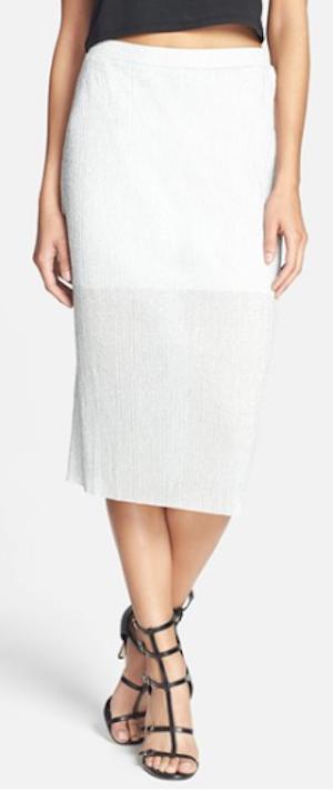 metallic textured midi skirt http://rstyle.me/n/p59n9r9te