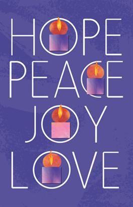 hope peace joy love high school cm prayers advent. Black Bedroom Furniture Sets. Home Design Ideas
