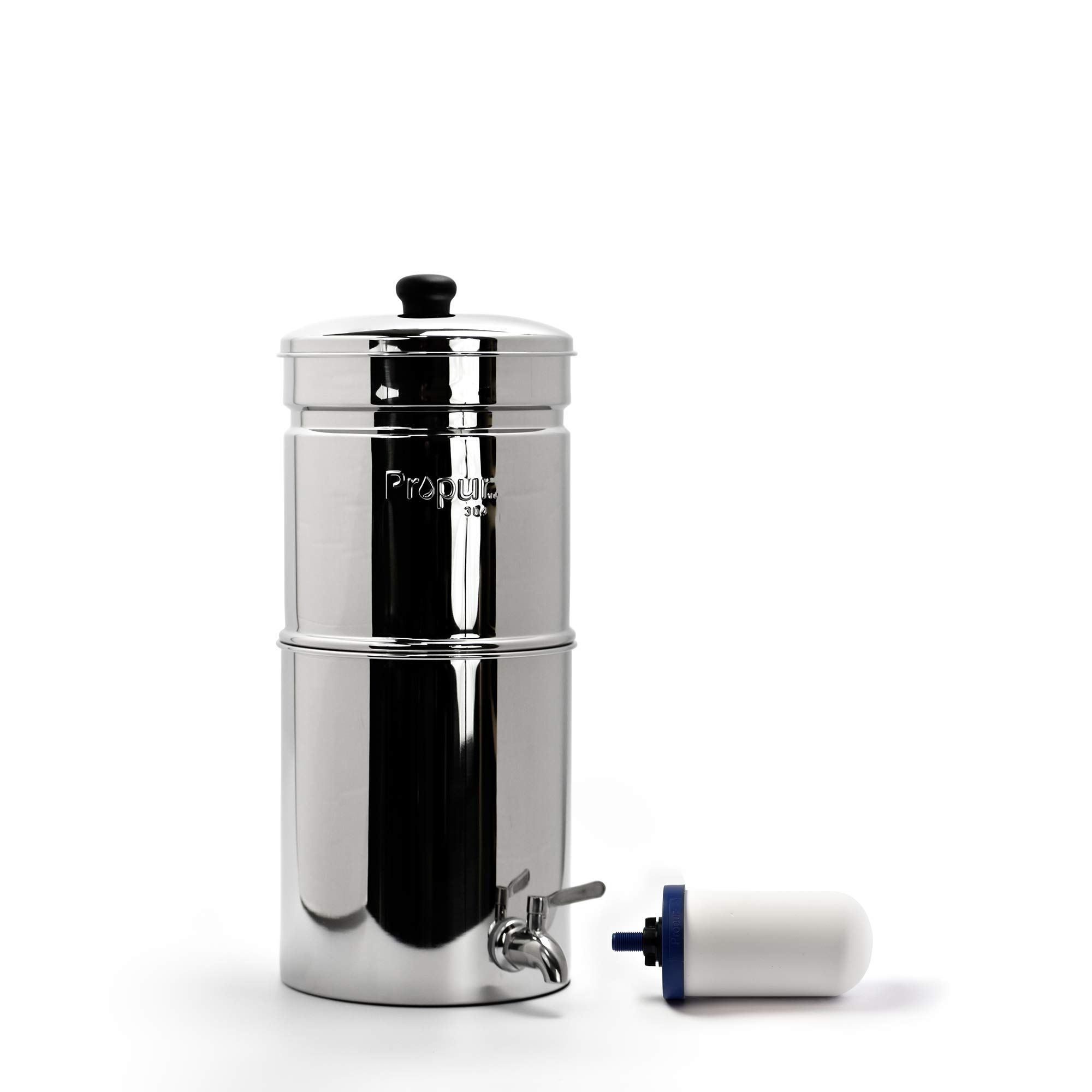 Propur Traveler Countertop Gravity Water Filter System Removes Fluoride Lead Chlorine Microplastics And More Water Filter Water Filters System Led Ring