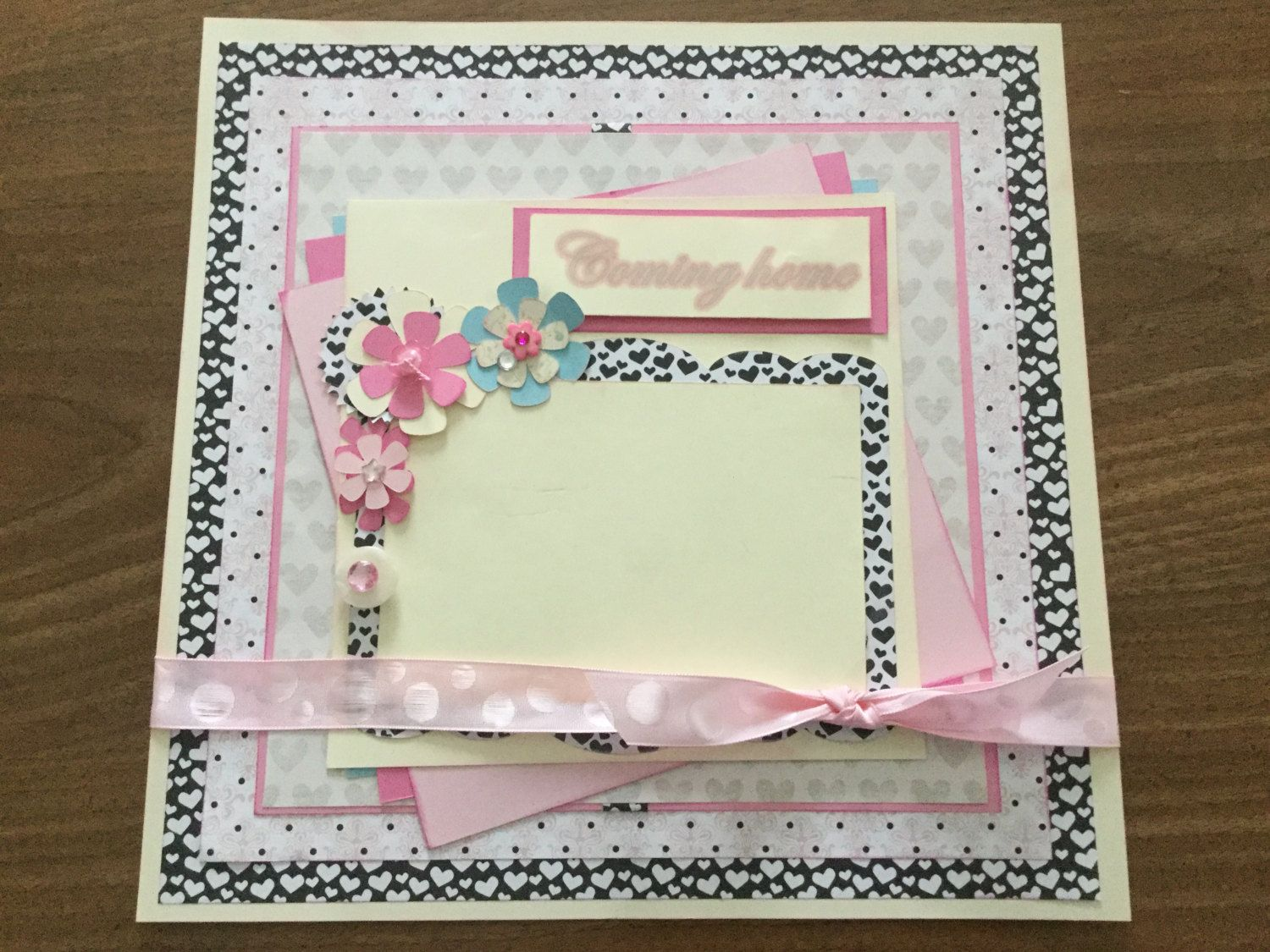 Scrapbook ideas for baby girl - Pre Made 12 X12 Scrapbook Page For Your Baby Girl S Coming Home From