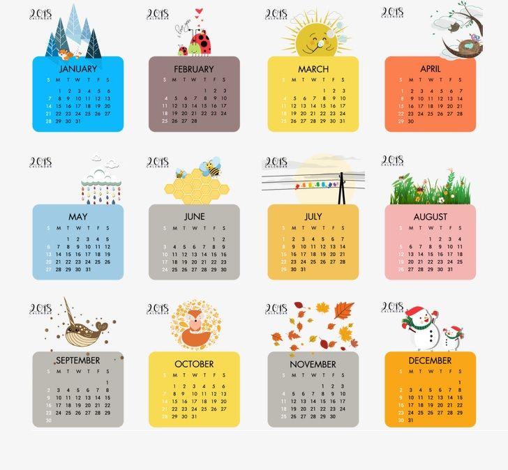 Printable Wall Calendar 2018
