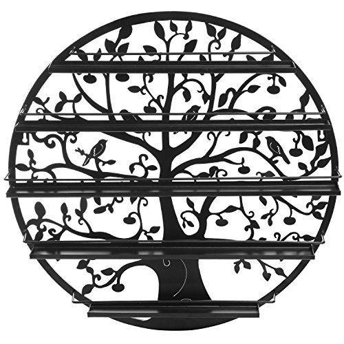 $59 Tree Silhouette Black Round Metal Wall Mounted 5 Tier Salon Nail Polish/ Essential oil holder, http://www.amazon.com/dp/B00SUEERNO/ref=cm_sw_r_pi_awdm_2QKRwb8C8KV6W
